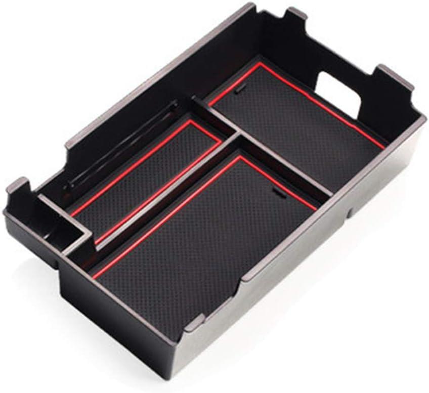 ALLYARD for Chevrolet Equinox Custom Center Console Organizer Armrest Box Secondary Storage Insert ABS Black Materials Full Tray for Hidden Accessories