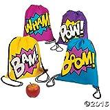 Amazon.com: Superhero Drawstring Backpacks - 12 ct: Toys & Games