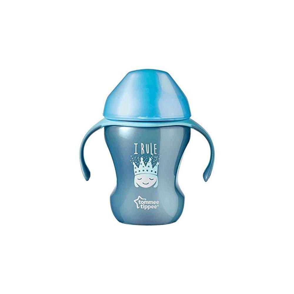 230ml 7m + Couronne bleue Tassee Tippee Training Sippee Cup avec bec souple et poign/ées Easy Grip