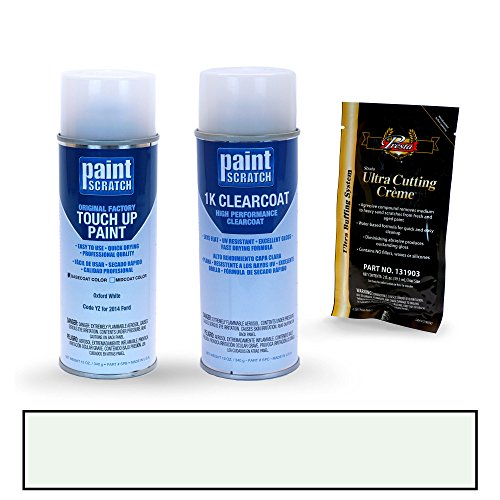 PAINTSCRATCH Oxford White YZ for 2014 Ford Mustang - Touch Up Paint Spray Can Kit - Original Factory OEM Automotive Paint - Color Match Guaranteed ()