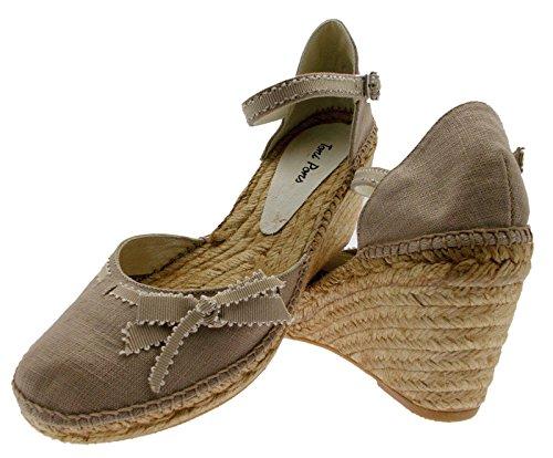 cerrado de FINA esquina sandale de de la correa Cuerda art Calzado beige pedra SqPa6f