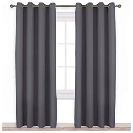 Merveilleux NICETOWN Blackout Curtains Panels For Bedroom   Three Pass Microfiber Noise  Reducing Thermal Insulated Solid Ring