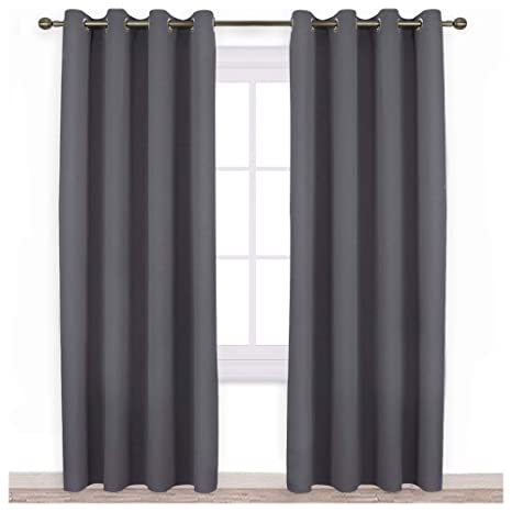 Amazoncom Nicetown Blackout Curtains Panels For Bedroom Three