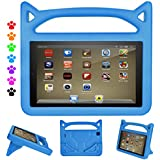 F ir e 8 Tablet Case,F i r e HD 8 Kids Case-DiHines Kids Shock Proof Protective Handle Stand Cover Case for HD 8 Tablet (Compatible 8th/7th/6th Generation,2018/2017/2016 Release) (Blue)