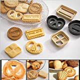 FMY Classical Cookies Plastic DIY Tools Fondant Cake Mold Biscuit Cutter Baking Tools,Set of 4