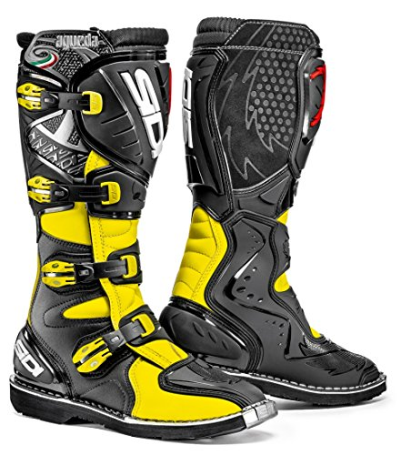 (Sidi Agueda Off Road Motorcycle Boots Flo Yellow/Black US10/EU44 (More Size Options))