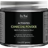 Activated Charcoal Powder for DIY Recipes - Facial Masks, Facial Scrubs, Knee Lightening, Underarm Lightening, Homemade Eyeliner, Mascara, and Teeth Whitening, 8 oz