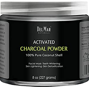 Del Mar Naturals Activated Charcoal Powder is made with pure coconut shells from Indonesia. Activated Charcoal Powder has been used for centuries for its incredible adsorptive properties. It is known for its ability to remove chemicals and toxins fro...