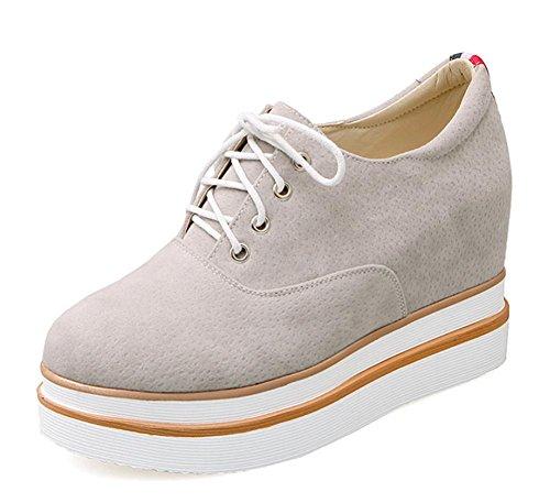 Frau im Frühjahr und Herbst Schuhe Muffin mit schweren Boden Schuhe Spitze Schuhe innerhalb des Aufzugsschuhs Frau , US7.5 / EU38 / UK5.5 / CN38