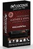 Coconix Upholstery, Vinyl and Leather Repair Kit - Furniture, Couch, Sofa, Boat, Car Seat, Jacket Restorer - Super Easy Instructions to Restore and Match Any Color Genuine, Italian, Bonded, Bycast, PU