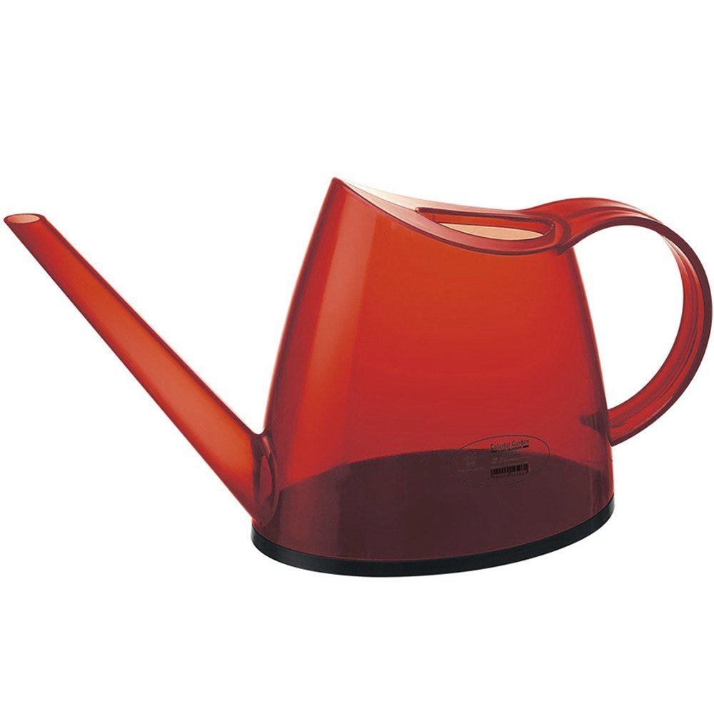Mini Watering Can, 47oz, Looks great, Light Weight and Balanced - Modern Japanese design Water can 0.36 Gallon (Lemon Green)(Red)