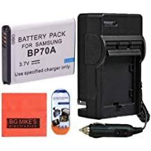 BP-70A Battery And Battery Charger for Samsung DV150F ES65 ES70 ES80 MV800 PL120 PL170 PL20 PL200 PL80 SL50 SL600 SL605 SL630 ST100 ST150F ST65 ST700 ST80 ST90 ST95 TL105 TL110 TL205 WB30F Digital Camera + More!!