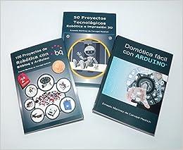 Pack 3 libros Arduino - Robótica y Domótica con 15% dto.: Amazon.es: Ernesto Martínez de Carvajal Hedrich: Libros