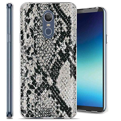 TalkingCase Phone Case for LG Stylo4,Stylo4 Plus,Clear Premium Thin Gel Phone Cover,Ultra Flexible Slim TPU,Snake Print Print, Designed and Printed in USA