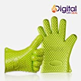 pull apart roasting rack - Cooking Gloves Heat Resistant Premium Insulated Grilling Gloves for Cooking, Pot Holders, Oven Mitt and BBQ Gloves (Green)