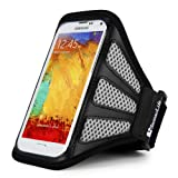 SumacLife Work Out Armband for Samsung / LG / ZTE / HTC / Huawei / Acer / Lenovo / Sony / Alcatel / Nokia / BlackBerry / Asus Smartphone (Mesh Gray)