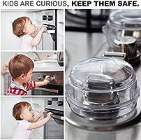 Protección Para Mandos del Horno y Estufa – Protectores de Seguridad para Niños y Bebés – Tamaño Universal, Para Todos los Modelos – Tapa Protector ...