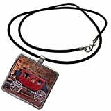Navajo Nation, Monument Valley, stage coach at Gouldings Trading Post Necklace With Pendant is a great gift item and a fun way to express your personality, while being fashionable. Features a rectangular pendant, crafted of Zinc Alloy, approx...