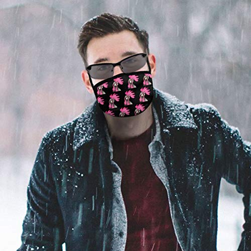 NiYoung Fashion Earloop Face Mask, Anti-Dust Mouth-Muffle with Adjustable Elastic Band - Windproof Funny Chicken Pink Black Half Face Mouth Medical Mask