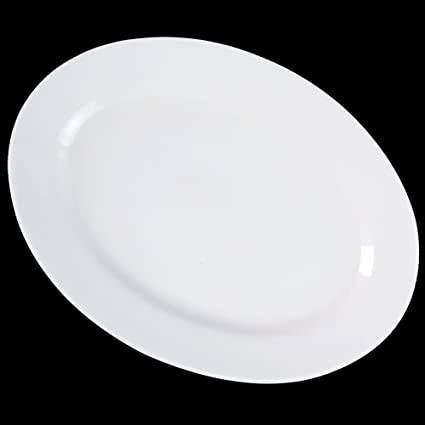 Dauerhaft Dinnerware 12 1/4u0026quot; Oval Dinner Plate/Porcelain Oval Platter/ Restaurant  sc 1 st  Amazon.com : is porcelain dinnerware durable - Pezcame.Com