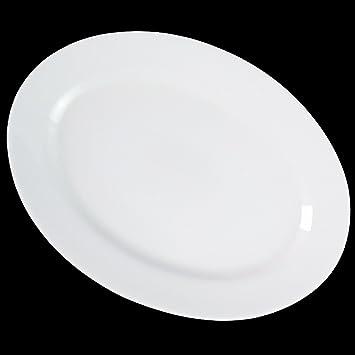 Dauerhaft Dinnerware 12 1/4u0026quot; Oval Dinner Plate/Porcelain Oval Platter/ Restaurant  sc 1 st  Amazon.com & Amazon.com | Dauerhaft Dinnerware 12 1/4