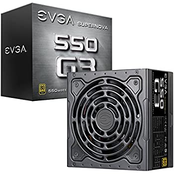 EVGA SuperNOVA 550 G3, 80 Plus Gold 550W, Fully Modular, Eco Mode with New HDB Fan, 7 Year Warranty, Includes Power ON Self Tester, Compact 150mm Size, Power Supply 220-G3-0550-Y1