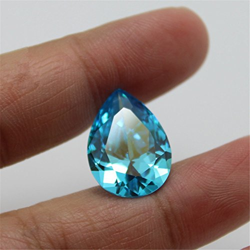 Aquamarine Pear Shaped Faceted Gemstone Teardrop Cut Aquamarine Gem Multiple Sizes to Choose C50A