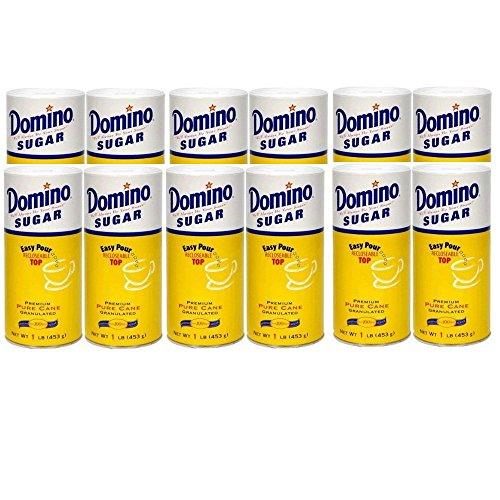 Domino Granulated Sugar Canister, 16 Ounces (Pack of 12) Domino Chocolate
