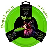 Floppy Dog frisbee - Harmless for teeth and gums - Lighter From The Rubber One - Outdoor Indoor Fetch Toy Flying Floating Disc - Dog Toys for Medium Large Dog - Flyber Plus