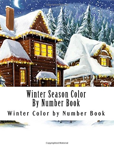 Winter Season Color By Number Book Adult Numbers
