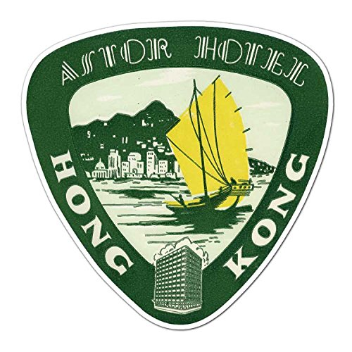 Astor Hotel - The Astor Hotel - Vintage Hong Kong Travel Label - Vinyl Decal Sticker - 3.75