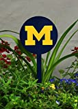 Authentic Street Signs Spring STEEL Garden Stakes (Michigan Wolverines- Navy)