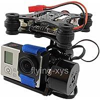 powerday®DJI Phantom RTF Gopro Hero3 Gimbal Brushless Camera Mount Aluminum gimbal kit Black&LD2208 gimbal motor&AlexMos BGCV2.3B5 gimbal controller & sensor
