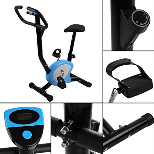 Homgrace Upright Exercise Bike, Home Gym Fitness Cycle Spinning Trainer Indoor Cardio Aerobic Workout Machine with LCD Display