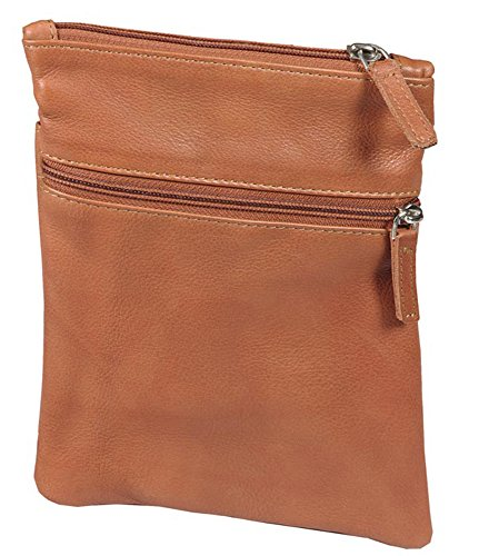 Winn International Harness Cowhide Leather Mini Tote/Passport Holder in Camel