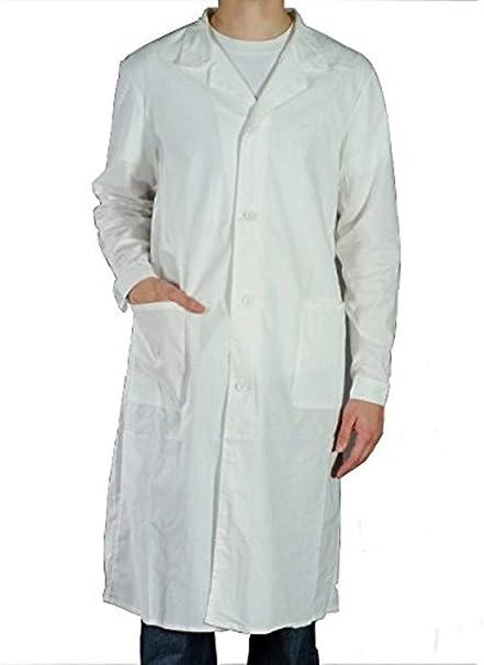 Bata blanca de laboratorio, 100% algodón, para química, farmacia, medicina, higiene blanco small : Amazon.es: Ropa y accesorios