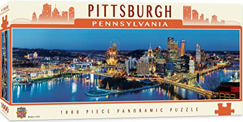 MasterPieces American Vistas Panoramic Pittsburgh Jigsaw Puzzle, 1000-Piece Panoramic Cityscape