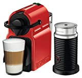Nespresso Inissia with Aeroccino 3 by Breville, Red