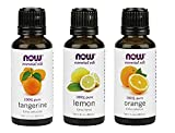 orange 3-Pack Variety of NOW Essential Oils: Citrus Blend - Orange, Tangerine, Lemon