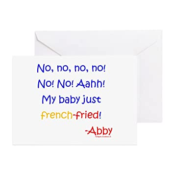 Amazon cafepress my baby french fried greeting card cafepress my baby french fried greeting card note card m4hsunfo