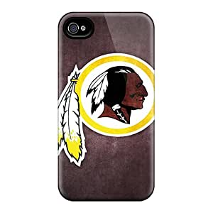 Protective Hard Phone Covers For Iphone 4/4s With Allow Personal Design Attractive Washington Redskins 6 Image CristinaKlengenberg