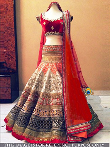 FourCorners2013-Womens-Exclusive-Party-Wear-Designer-Bollywood-Replica-Lehenga-Choli-One-Size-Red