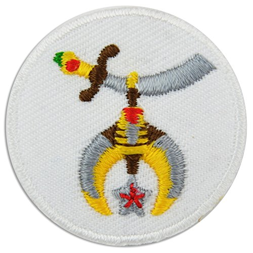 """Shriner Embroidered Masonic Patch - 1 1/2"""" Diameter"""