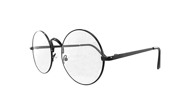 1301e48e29c Nicky Bigs Novelties Lennon Round Large Metal Colored Frame Clear Lens Eye Glasses  Wire Santa Costume
