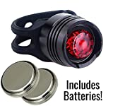 Ultra Bright LED Bicycle Rear Tail Light - Includes Free Batteries - Mounts on Bicycles, Scooters, Backpacks, Helmets and More - By Solly's Cyclery
