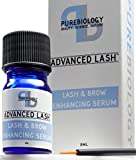 Pure Biology Eyelash Growth Serum & Eyebrow Enhancer - with Biotin Peptides,
