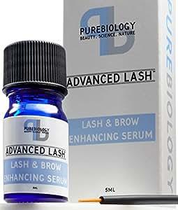 Pure Biology Eyelash Growth Serum & Eyebrow Enhancer w/ Breakthrough Growth Stimulating Complex - Safe & Irritation-Free (Precision Applicators Included)