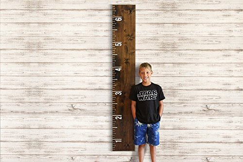 Walnut 6 Wooden Growth Chart Ruler Oversized Wall Art   Personalized   New Moms Gift  Teacher Gift  Measure Your Kids Height