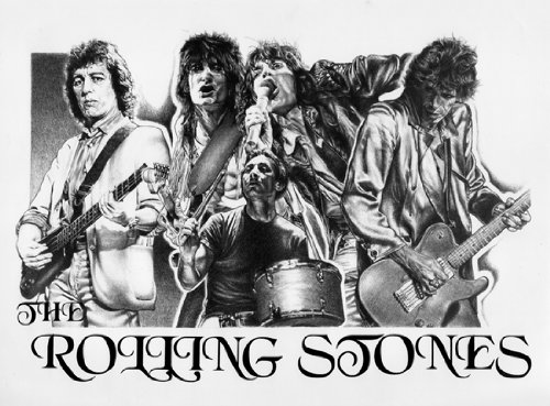 Rolling Stones Original Sketch Prints product image