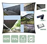 Agfabric 70% 12ft X 20ft Sunblock Shade Cloth for Plant Cover, Greenhouse, Barn or Kennel, Pool, Pergola or Carport, Cut Edge UV Resistant Fabric